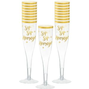 Sip, Sip, Hooray! New Year's Champagne Flutes 16ct