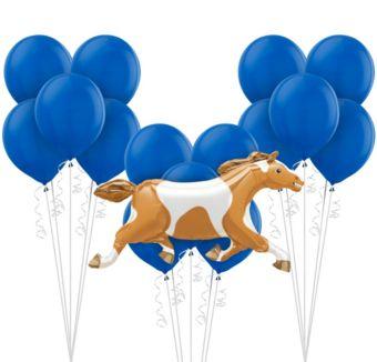 Blue Horse Racing Balloon Kit