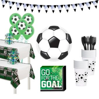 Soccer Deluxe Tableware Kit for 32 Guests