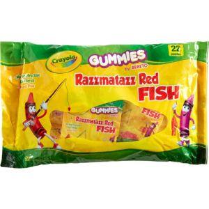 Crayola Razzmatazz Red Fish Gummy Candy Pouches 22ct