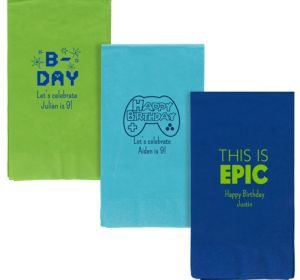 Personalized Boys Birthday Guest Towels