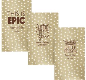 Personalized Boys Birthday Small Dots Guest Towels