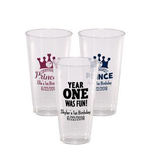 Personalized 1st Birthday Hard Plastic Cups 16oz
