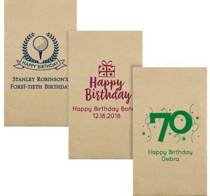 Personalized Milestone Birthday Eco-Friendly Guest Towels