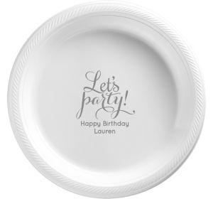 Personalized Milestone Birthday Plastic Dessert Plates