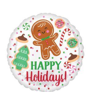 Happy Holidays Cookies Balloon
