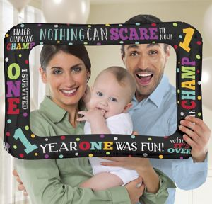 Inflatable Surviving Baby's 1st Year Photo Frame Balloon