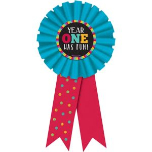 Year One Was Fun Award Ribbon