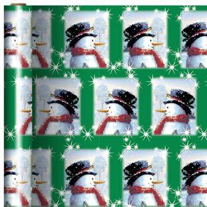 Twinkle Snowman Gift Wrap