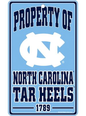 Property of North Carolina Tar Heels Sign
