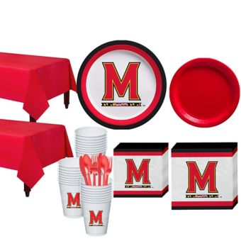 Maryland Terrapins Basic Party Kit for 40 Guests