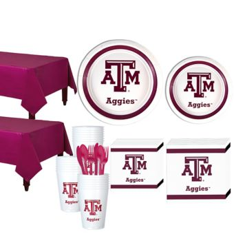 Texas A&M Aggies Basic Party Kit for 40 Guests