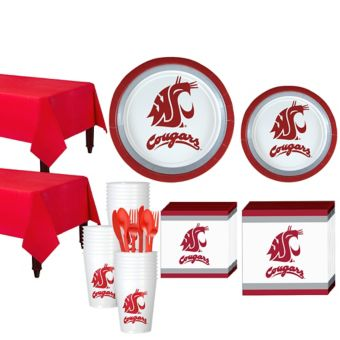Washington State Cougars Basic Party Kit for 40 Guests