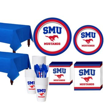 SMU Mustangs Basic Party Kit for 40 Guests
