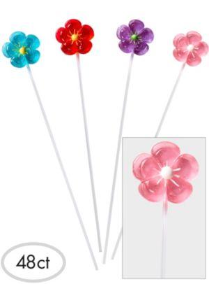 Flower Sparklepops Lollipops 48ct