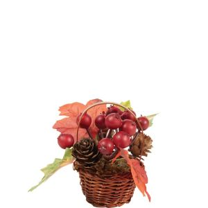 Mini Pomegranate Wicker Basket Decoration