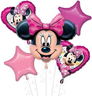 Minnie Mouse Balloon Bouquet 5pc