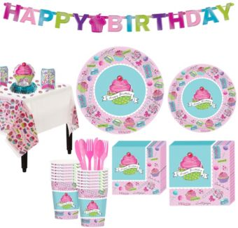 Pastel Birthday Sweets Party Kit for 18 Guests