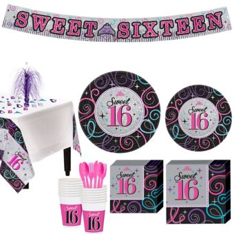 Celebrate Sweet 16 Party Kit for 16 Guests