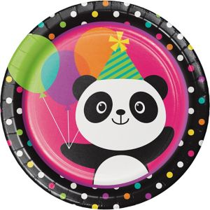 Panda Lunch Plates 8ct