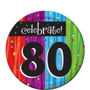 Colorful Celebrate 80 Dessert Plates 8ct