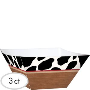 Yeehaw Western Snack Bowls 3ct