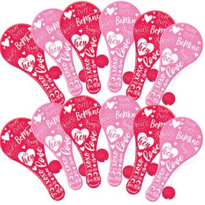 Valentine's Day Paddle Balls 12ct