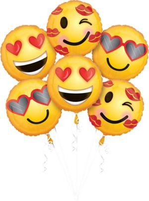 Valentine's Day Smiley Balloons 6ct