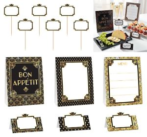 Metallic Hollywood Buffet Decorating Kit 12pc