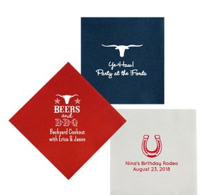 Personalized Summer Premium Lunch Napkins
