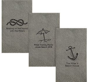 Personalized Summer Tweed Print Guest Towels