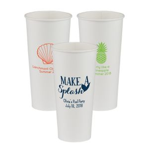 Personalized Summer Paper Cups 24oz
