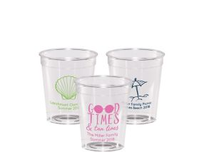 Personalized Summer Hard Plastic Shot Glasses 2oz