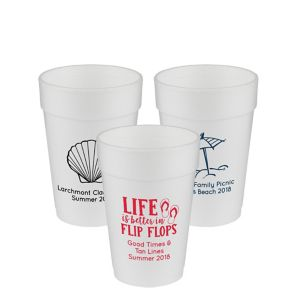 Personalized Summer Foam Cups 14oz