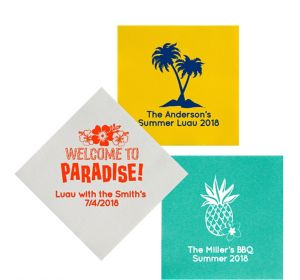 Personalized Luau Premium Lunch Napkins