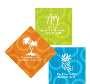 Personalized Luau Circles Lunch Napkins