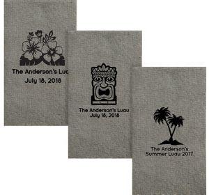 Personalized Luau Tweed Print Guest Towels