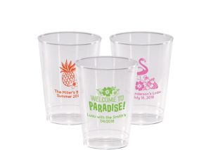 Personalized Luau Hard Plastic Cups 10oz