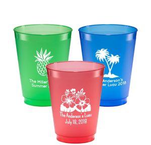 Personalized Luau Plastic Shatterproof Cups 16oz