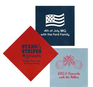 Personalized 4th of July Premium Lunch Napkins