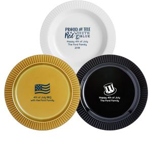 Personalized 4th of July Premium Plastic Dinner Plates