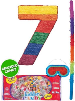 Rainbow Number 7 Pinata Kit