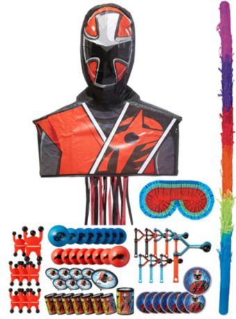 Ninja Steel Red Pinata Kit with Favors - Power Rangers Ninja Steel