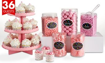 Pink Sweets & Treats Kit for 36 Guests