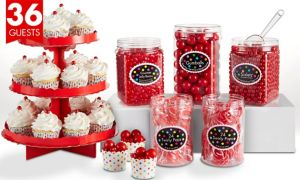 Red Sweets & Treats Kit for 36 Guests