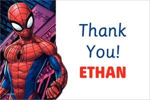 Custom Webbed Wonder Spider-Man Thank You Note