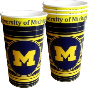 Michigan Wolverines Plastic Cups 4ct