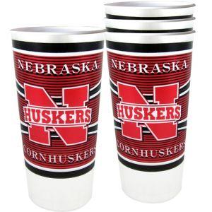 Nebraska Cornhuskers Plastic Cups 4ct
