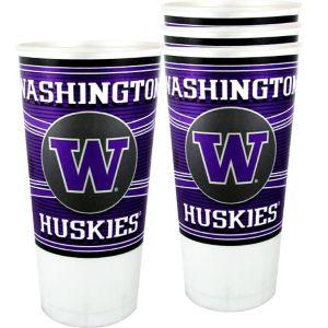 Washington Huskies Plastic Cups 4ct