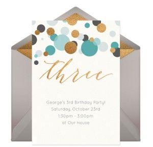 Online Three Blue Invitations